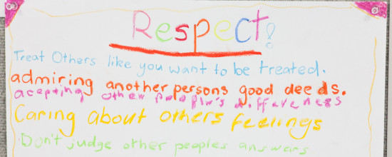Circle Principles: Respect – listen and be listened to
